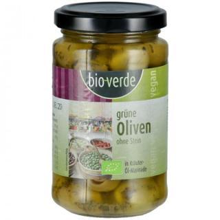 Oliven grüne Oliven ohne Stein, 200g, Isana