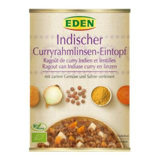 Indischer Currylinsen Eintopf (Suppensportiment)