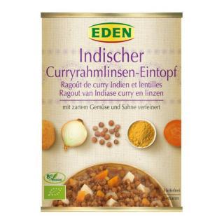 Indischer Currylinsen Eintopf (Suppensportiment)