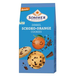 Dinkel Orange Schoko Cookies, vegan, demeter