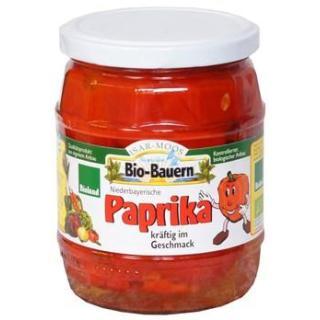 Eingelegte rote Paprika im 520g Glas