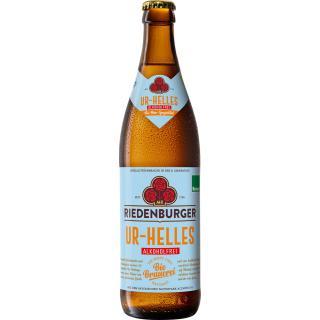 Lagerbier hell alkoholfrei  Riedenburger  0,5 l  (10f/kiste)