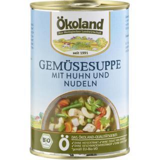 Gemüsesuppe mit Huhn in 400g Dose