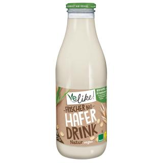 Frischer Haferdrink in der Glasflasche 1l, Milchersatz