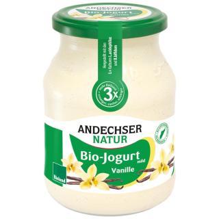 Joghurt Vanille,  500g Glas, Bioland