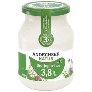 Joghurt 3,7% natur 500g Glas Bioland