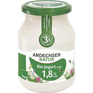 Joghurt 1,8 % natur-mild  500g Glas Bioland
