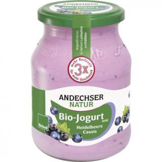 Joghurt Heidelbeere-Cassis 3,8%, 500g Glas