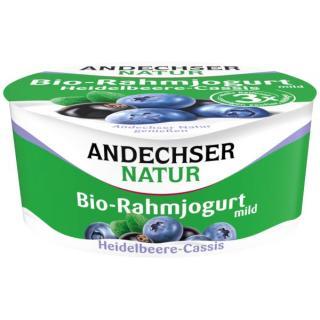 Rahmjoghurt Heidelbeere-Cassis