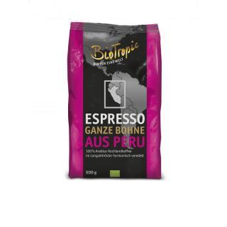 Espresso ganze Bohne aus Peru    500g