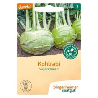 Kohlrabi weiß - Superschmelz  Saatgut-tüte