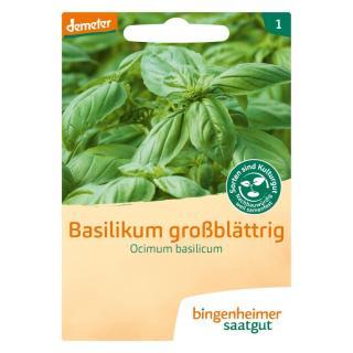 Basilikum MITTEL-GROß-blättrig  Saatgut-tüte
